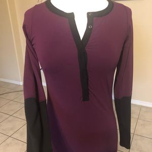 Size 6 Lululemon bordeaux and black long sleeve